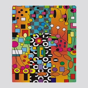 Artsy Abstract Throw Blanket