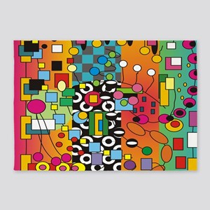 Artsy Abstract 5'x7'Area Rug
