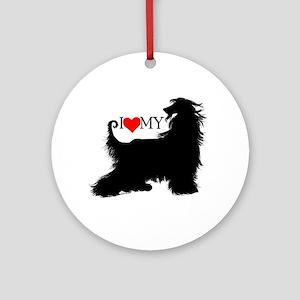 I Love my Afghan Hound Ornament (Round)