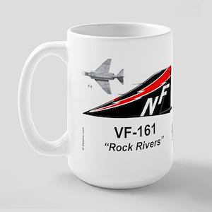 F-4 Phantom Ii Vf-161 Rock Rivers Large Mug Mugs