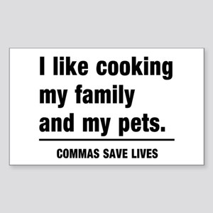 Commas save lives Sticker