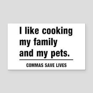 Commas save lives Rectangle Car Magnet