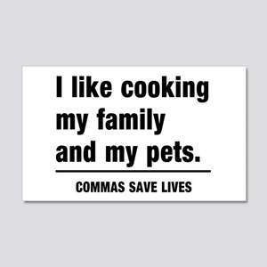Commas save lives Wall Decal