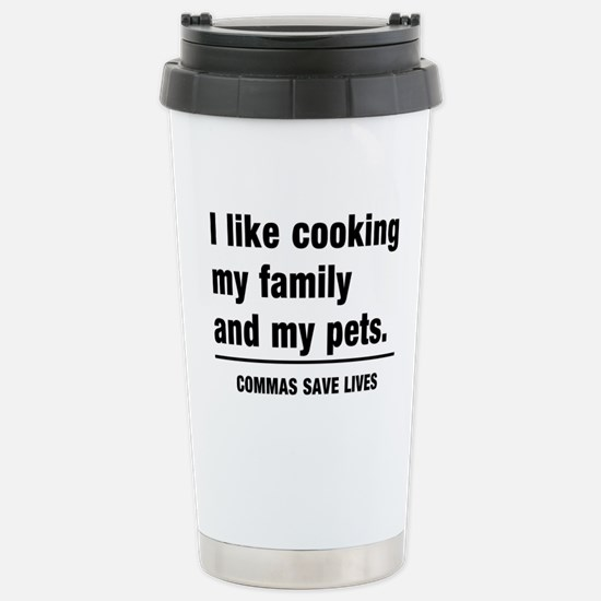Commas save lives Travel Mug