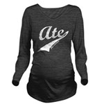 ate_CPDark Long Sleeve Maternity T-Shirt