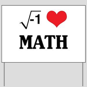 I heart math Yard Sign