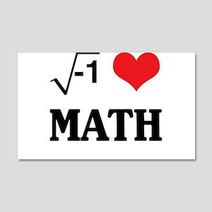I heart math Wall Decal