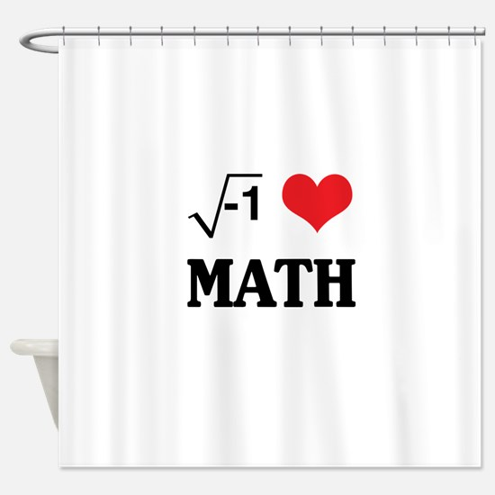 I heart math Shower Curtain