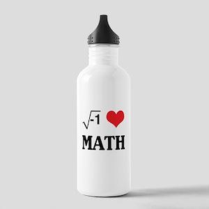 I heart math Water Bottle