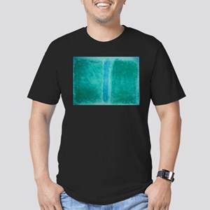 ROTHKO IN TEAL Men's Fitted T-Shirt (dark)
