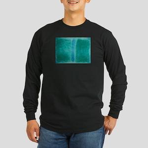 ROTHKO IN TEAL Long Sleeve Dark T-Shirt