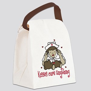 Kisses Cure Anything Canvas Lunch Bag