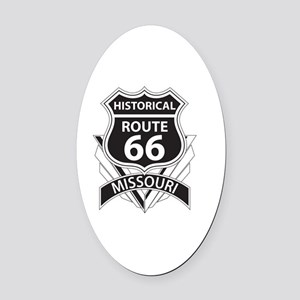 Historical Route 66 Missouri Oval Car Magnet