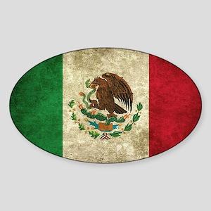 Bandera de México Sticker (Oval)