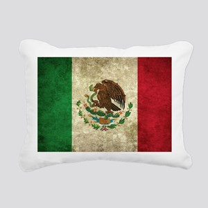 Bandera de México Rectangular Canvas Pillow