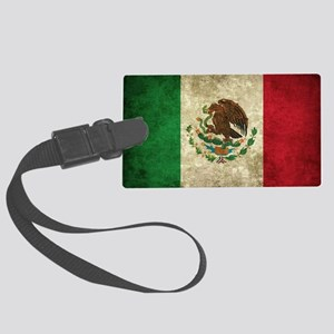 Bandera de México Large Luggage Tag