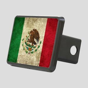 Bandera de México Rectangular Hitch Cover