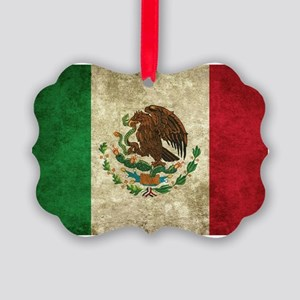 Bandera de México Picture Ornament