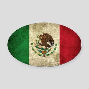 Bandera de México Oval Car Magnet