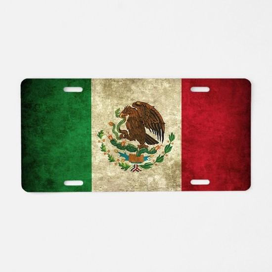 Bandera de México Aluminum License Plate