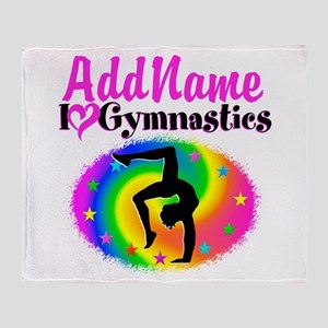 GYMNAST QUEEN Throw Blanket