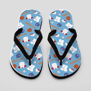 baseball-pattern-cafepress Flip Flops