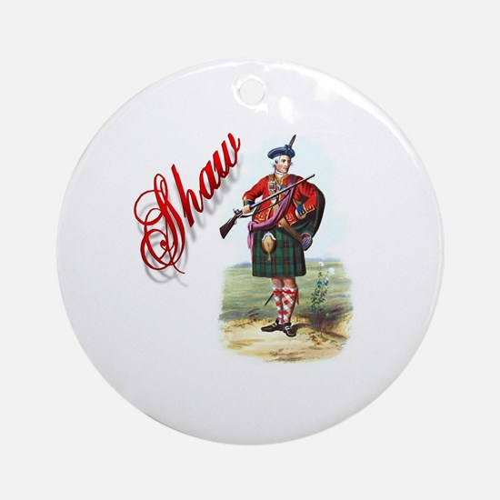 Clan Shaw Round Ornament