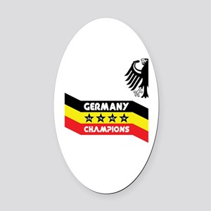 Champions of the World Oval Car Magnet