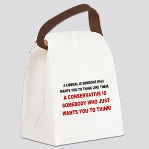 A Conservative Canvas Lunch Bag