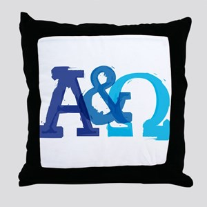 Alpha and Omega for Christians Throw Pillow