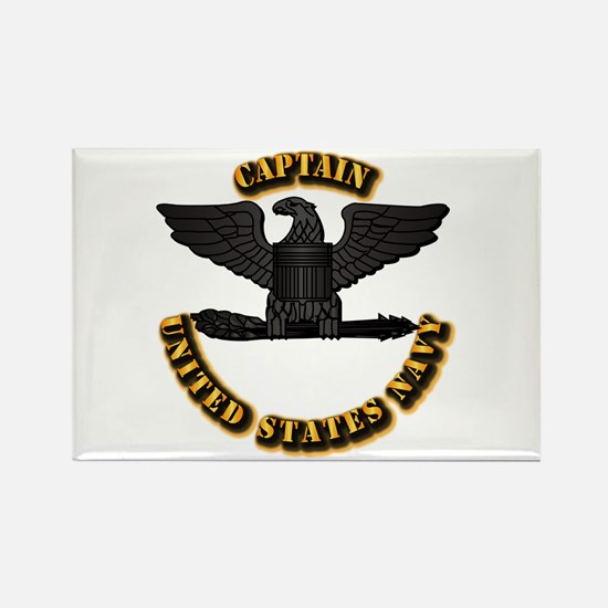 Navy - Captain - O-6 - Rectangle Magnet (10 pack)