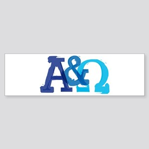 Alpha and Omega for Christians Bumper Sticker