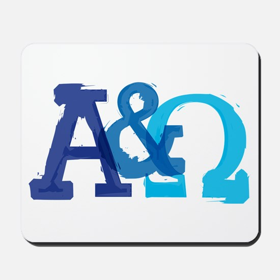 Alpha and Omega for Christians Mousepad