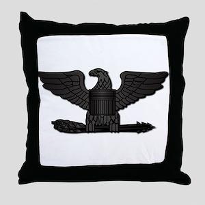 Navy - Captain - O-6 - No Text Throw Pillow