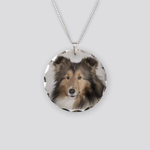 Shetland Sheepdog Necklace Circle Charm