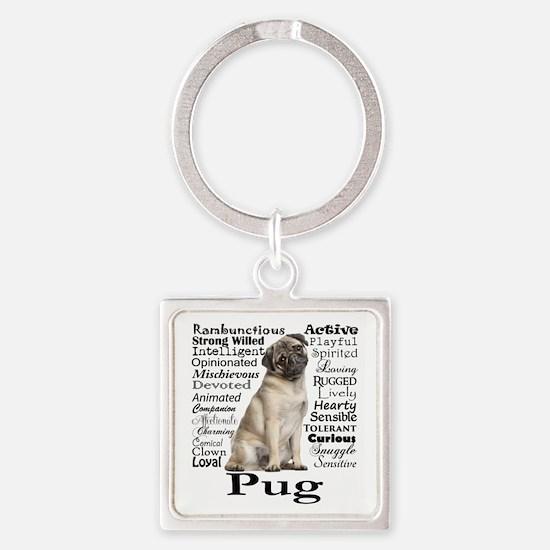 Pug Traits Keychains