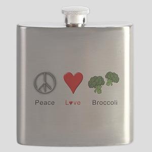 Peace Love Broccoli Flask