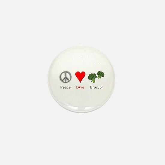 Peace Love Broccoli Mini Button