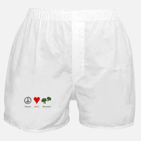 Peace Love Broccoli Boxer Shorts