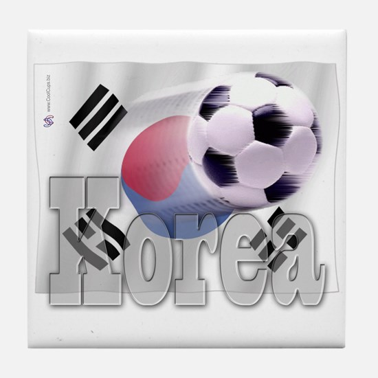 Soccer Flag Korea Tile Coaster