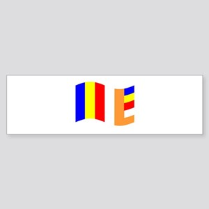 Waving Buddhist Flag Bumper Sticker