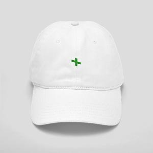 Waving Green Cross Flag Baseball Cap