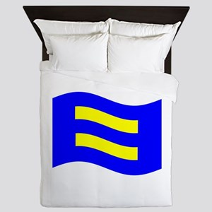 Waving Human Rights Equality Flag Queen Duvet