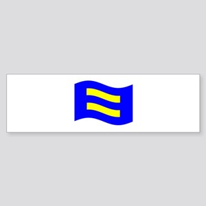 Waving Human Rights Equality Flag Bumper Sticker