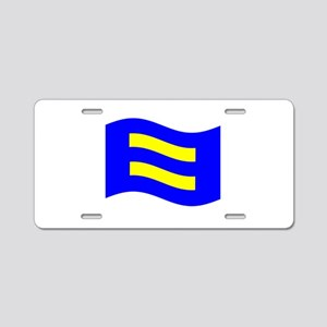 Waving Human Rights Equality Flag Aluminum License