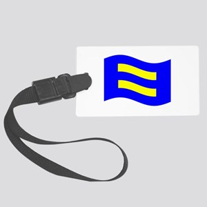 Waving Human Rights Equality Flag Luggage Tag