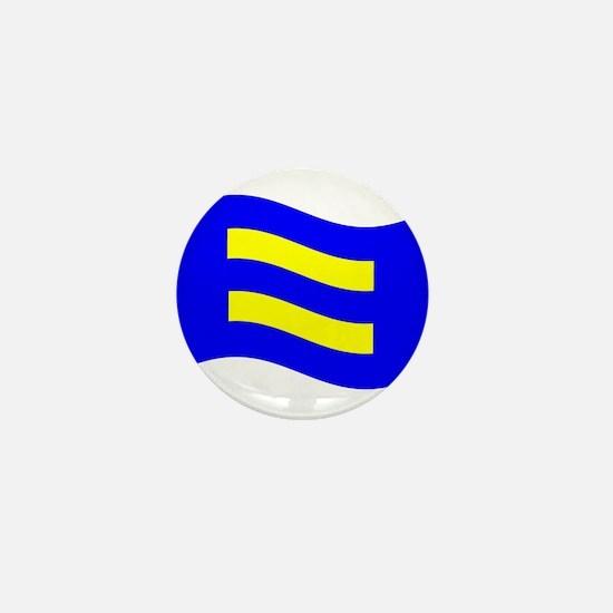 Waving Human Rights Equality Flag Mini Button