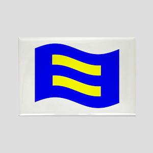 Waving Human Rights Equality Flag Magnets