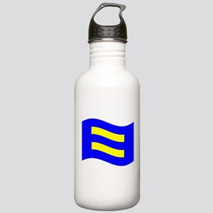 Waving Human Rights Equality Flag Water Bottle