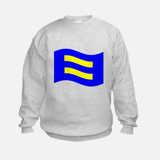 Waving Human Rights Equality Flag Sweatshirt